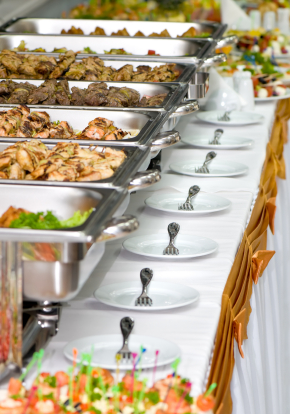 buffet table rentals including chaffing dishes tablecloths